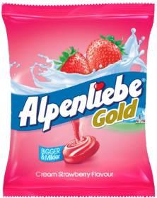 Alpenliebe Gold Cream Strawberry Toffee