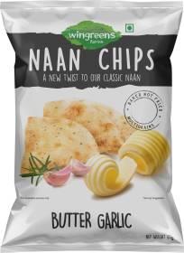 WINGREENS Butter Garlic Naan Chips
