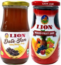 Lion Mixed Fruit Jam and Date Jam with Mango Pulp 1000 g