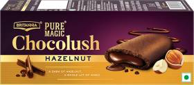 BRITANNIA Pure Magic Chocolush Hazelnut Cream Filled