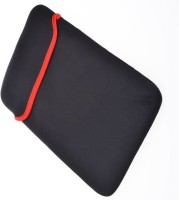 "Techvik Universal Soft Pouch Sleeve Reversible / Cover / Protector for 15.6"" MacBook Tablet Notebook Laptop Bag(Black, Red)"