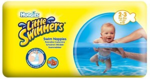 Huggies Little Swimmers Swim Nappies 12Pc (2-3) (3-8Kg) - S(12 Pieces)