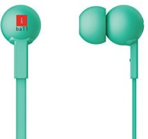 Iball Colorstick Earphone With MIC Wired Headphone(Green, In the Ear)