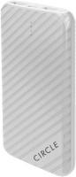 Circle CSP10000 polymer battery 10000 mAh Power Bank(White, Lithium Polymer)