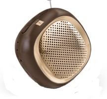 Iball Musi Cube With FM Radio-BT 20 Portable Bluetooth Mobile/Tablet Speaker(Gold, 2.0 Channel)