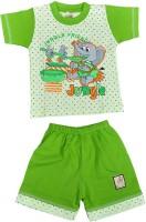 Harsha Boys Casual Top Shorts(Green)