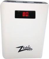 Zeal Z-10 DIGITAL Power bank POWERFULL CAPACITY 10400 mAh Power Bank(Black, Lithium-ion)