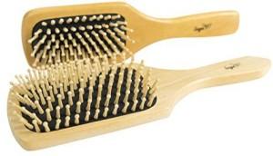 Sage Worldwide New - Sage Natural Wooden Bristle Hair Brush Set - 2 Pack Anti-static Paddle Hairbrushes