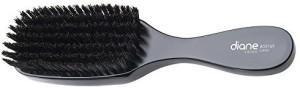 Diane D8169 100% Soft Boar Bristle Wave Brush - Black
