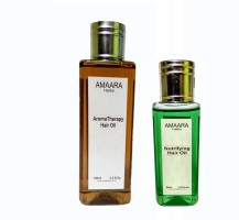 Amaara Herbs Aroma thrapy & Nutrifying oil combo Hair Oil(250 ml)