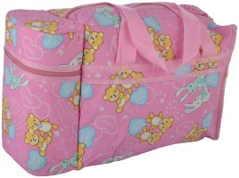 CHINMAY KIDS WonderKart Multi Purpose Baby Diaper Mother Bag With 2 Bottle Holders - Keep Baby Bottles Warm (Pink) 2 Zip Compartment, 2 Bottle Warmer and 1 Back Pocket(Pink)