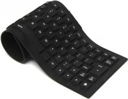 Plutofit 85 Keys Silicone Rubber Waterproof Flexible Foldable Wired USB Multi-device Keyboard(Black)