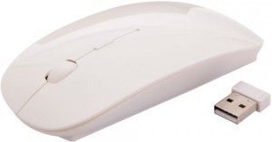 BB4 Ultra-Thin Wireless Optical Mouse(USB, White)