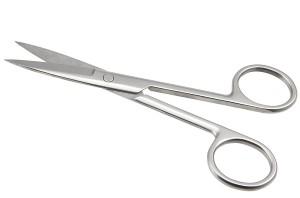 Confidence Salon & Parlour Use Eyebrow Cutting Steeliness steel Scissors(Set of 1, Silver)