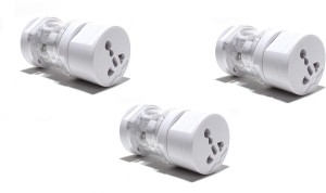 ROQ Sets of 3 All in one Round International Universal Worldwide Adaptor(White)