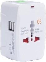 Oxza Multi-plug Universal Worldwide Adaptor(White)