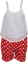 ShopperTree Girls Casual Top Shorts(White)