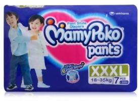 MamyPoko Mamy Poko - Pant Style Diapers Triple Extra Large - 7 Pieces - L(7 Pieces)