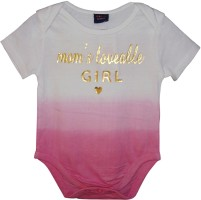 Kidde Romper For Girl's Casual Self Design Cotton(Pink, Pack of 1)