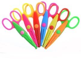ACCESSOREEZ Set of 6 Right Handed Paper Scissors(Set of 6, Multicolor)