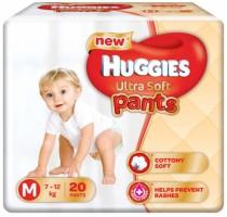 Huggies Ultra Soft Medium Size Premium Diapers - M(20 Pieces)