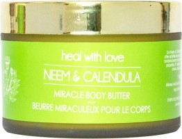 LOVE ORGANICALLY Neem & Calendula Miracle Body Butter - Natural & Organic Designed To Wrap Your Child and You In a Nourishing, Protective Layer of Love - Perfect For Irritated / Allergy Prone / Dry / Eczema Prone Skin(200 g)