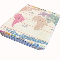 Gift wrappers evince gift wrapping paper world map with beautiful bows paper gift wrapperwhite and colors gumiabroncs Image collections