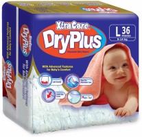 Xtracare Dryplus Baby Diapers - L(36 Pieces)