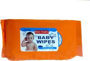 Hiba Collection Wipes-Orange(80 Pieces)