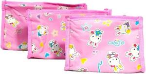 408f189f6613 Aadhya Pack of 3 Cosmetic Makeup Toiletry Jewellery Vanity Box Travel  Toiletry Kit(Pink)