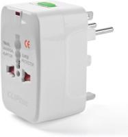 Vellora Universal Travel Adapter Plug for Us Uk Eu Au (White) Worldwide Adaptor(White)