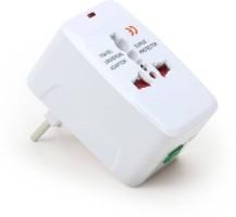 Shenron Universal World Wide Travel Charger Adapter Plug for Us Uk Eu Au (White)1 Worldwide Adaptor(White)