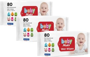 Babymate Babymate Soft Wet Wipes Pack of 3 ( Each Pack 80 PCS Wipes)(3 Pieces)