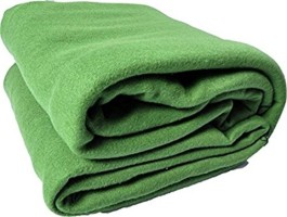 Home crust Plain Single Blanket Light Green(Fleece Blanket, 1 blanket)