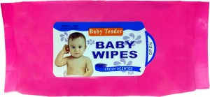 fostilo BABY TENDER CLEANSING BABY WIPES(80 Pieces)