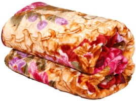 Creative Terry Floral Double Blanket Multicolor(1 Double Blanket)