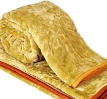 Creative Terry Plain Double Blanket Yellow(1 Double Blanket)