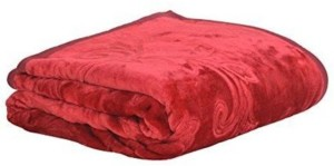 Creative Terry Plain Double Blanket Maroon(1 Double Blanket)
