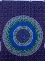 PRINCE CREATION Cotton Printed Bedsheet(1 Mandala Bedsheet, Multicolor)
