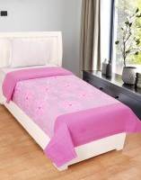 Zain Cotton Floral Single Bedsheet(1 Single Bed Sheet, Pink)