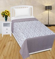 Zain Cotton Paisley Single Bedsheet(1 Single Bed Sheet, Grey)