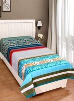 Zain Cotton Striped Single Bedsheet(1 Single Bed Sheet, Multicolor)