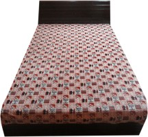 amk Checkered Single Top Sheet Multicolor(Fleece Blanket, 1 blanket)