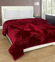 ASOKAM Floral Single Blanket Maroon