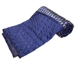 ASOKAM Floral Double Quilt Blue