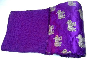 ASOKAM Floral Single Quilt Purple