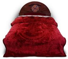 ASOKAM Floral King Blanket Maroon