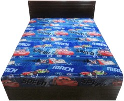 amk Text Print Double Top Sheet Multicolor(Fleece Blanket, 1 blanket)