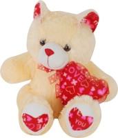 bdab92b9a39 AVS Stuffed Spongy Soft and Cute Teddy Bear With Small Heart (Cream Color) -