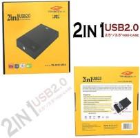 GIPTIP TB 2 in 1 Desktop and Laptop 3.5 2.5 Inch Sata Hard Disk Casing Enclosure(For laptop, Desktop, Black)